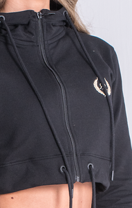 BLACK JACKET WITH RR GOLD EMBROIDERY