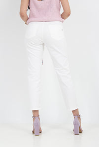 SOLID-COLOUR JEAN-CUT TROUSER