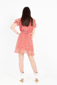 FRILLY PRINT DRESS