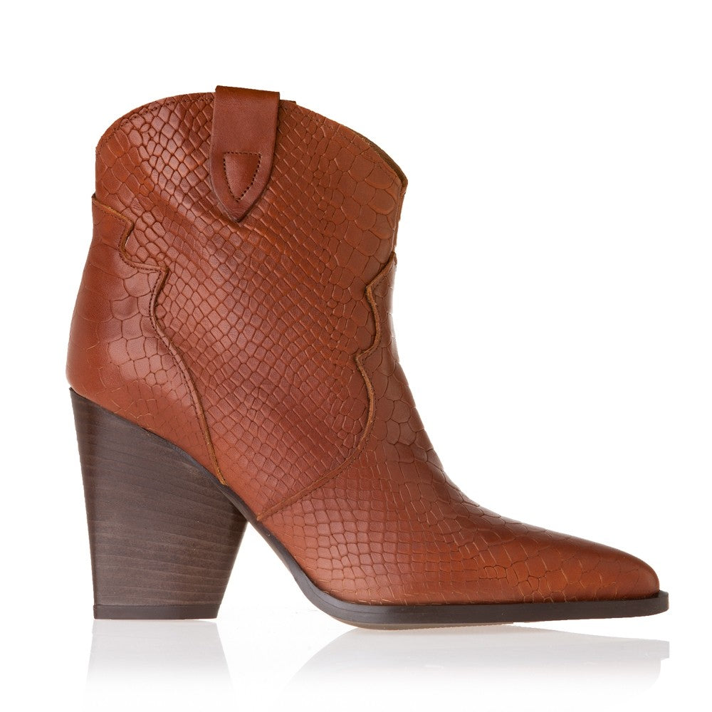 WESTREN LEATHER ANKLE BOOTS