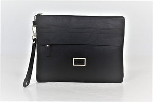 POUCH BAG IN FAUX LEATHER