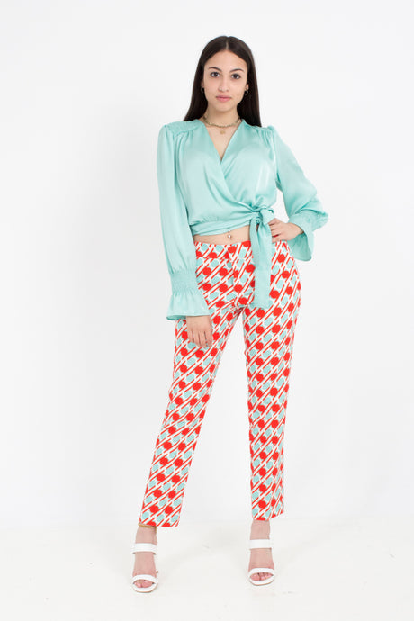 MID-RISE PRINT TROUSER