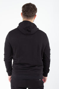 PULLOVER HOODIE CUT AND SEW PIPED RIB