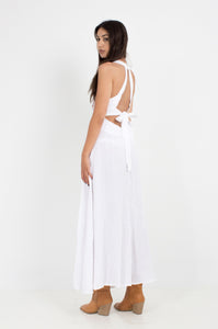 ACANTHO WHITE EMBROIDERED IEND SUMMER DRESS