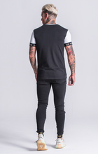 Load image into Gallery viewer, BLACK CONTRAST TEE