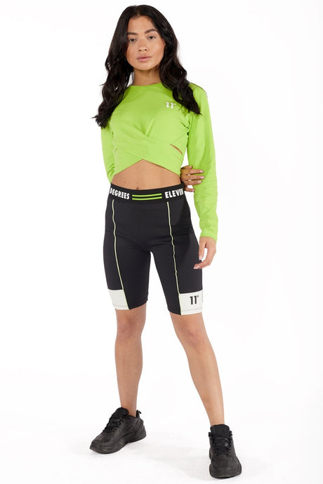NEON TAPED CYCLING SHORTS