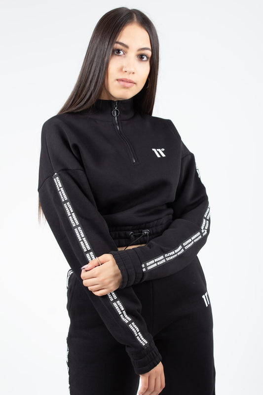 SIGNATURE QUARTER ZIP CROPPED