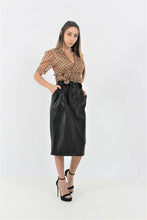 Load image into Gallery viewer, LEATHER SKIRT