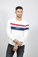 Load image into Gallery viewer, TOP TRICOLOR STRIPE TEE