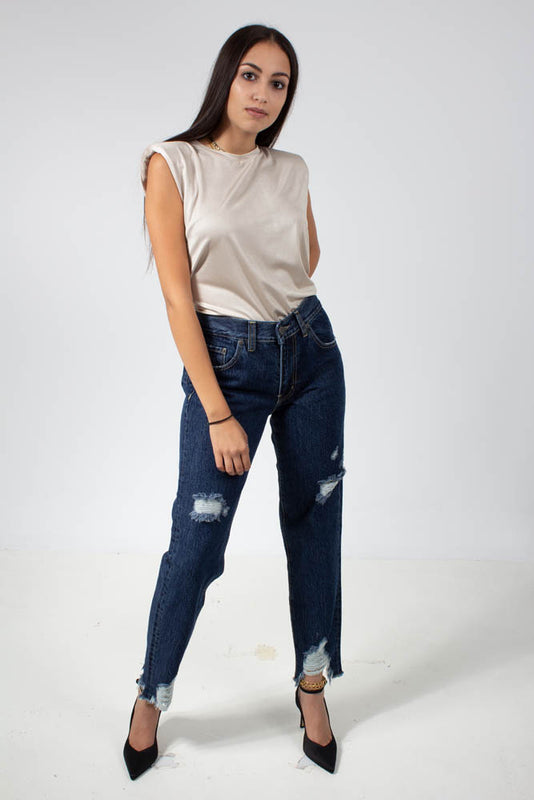 TROUSERS JEANS RIPPED ISABELLA