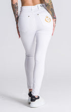 Load image into Gallery viewer, WHITE RR SKINNY JEANS