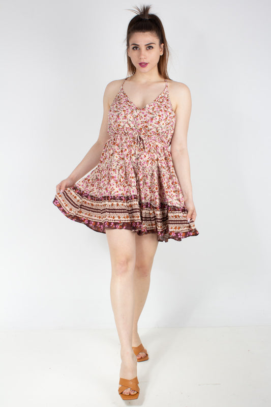 MADELEME PRINT DAPHNE MINI DRESS