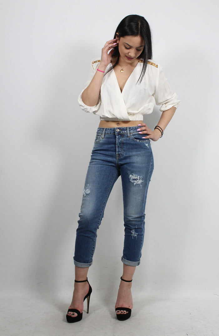 DENIM TROUSERS TINA-120