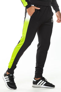 DOT FADE PANELLED POLY TRACK PANTS