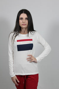 TOP BESTY FLAG TEE LS