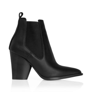 WESTERN LEATHER ANKLE BOOTS