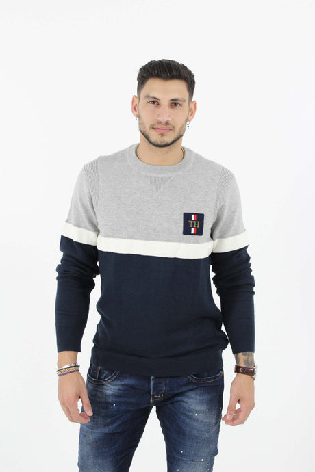 CHEST BRANDED COLORBLOCK SWEATER
