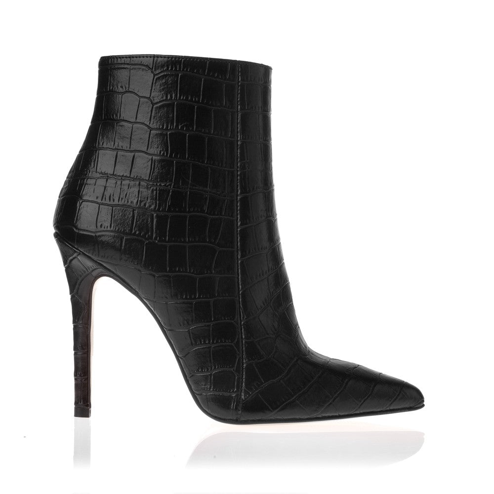 SANTE BOOTIES CROCO LEATHER LOOK