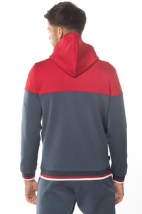 RIBBET FULL ZIP POLY TRACK TOP WITH HOODIE
