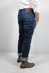 SLIM BLEECKER STR CROWN BLUE TROUSERS