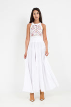 Load image into Gallery viewer, ACANTHO WHITE EMBROIDERED IEND SUMMER DRESS