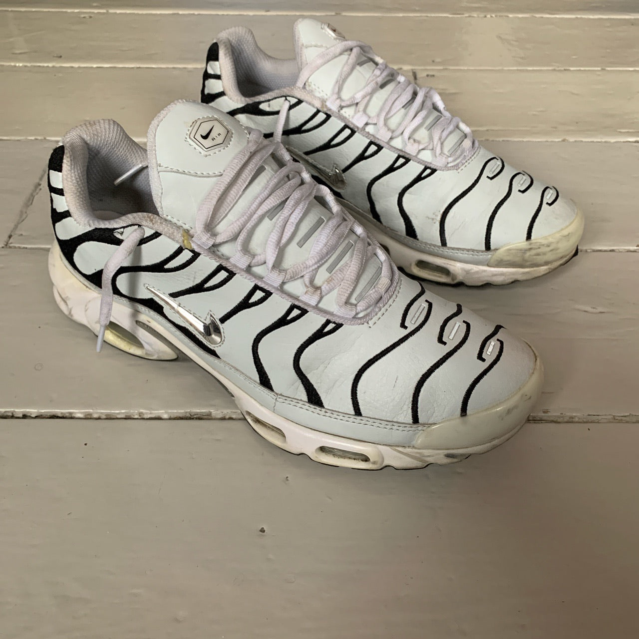 nueva productos ahorros fantásticos muy agradable Nike TN Air Max Plus TN White Leather (UK 12) – Wear Garson