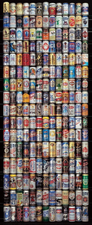 Papermoon American Beer Cans Vlies Fototapete 90x200cm | Yourdecoration.de