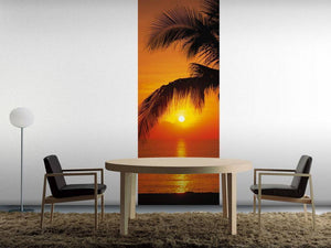 Komar Palmy Beach Sunrise Fototapete 92x220cm | Yourdecoration.de