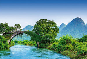Wizard+Genius Bridge Crosses A River In China Vlies Fototapete 384x260cm 8-bahnen | Yourdecoration.de