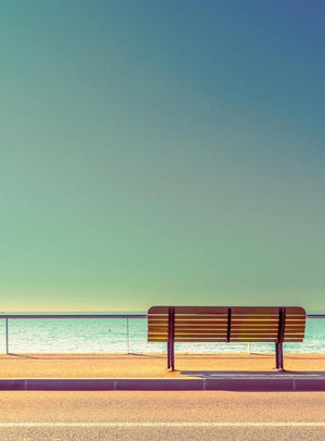Wizard+Genius Bench And Sea Vlies Fototapete 192x260cm 4-bahnen | Yourdecoration.de