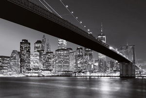 Wizard+Genius Brooklyn Bridge NY Vlies Fototapete 384x260cm 8-bahnen | Yourdecoration.de
