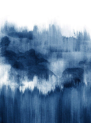 Wizard+Genius Brush Strokes Blue Vlies Fototapete 192x260cm 4-bahnen | Yourdecoration.de