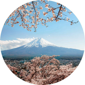 Wizard+Genius Mount Fuji in Japan Vlies Fototapete 140x140cm rund | Yourdecoration.de