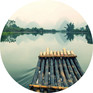Wizard+Genius Raft Trip in China Vlies Fototapete 140x140cm rund | Yourdecoration.de