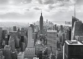 Komar NYC Black and White Fototapete 368x254cm | Yourdecoration.de