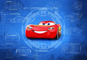 Komar Cars 3 Blueprint Fototapete 368x254cm | Yourdecoration.de