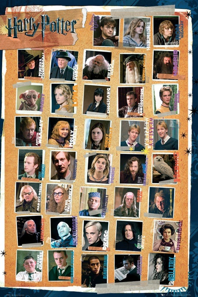 GBeye Harry Potter 7 Characters Deco Panel 60x90cm