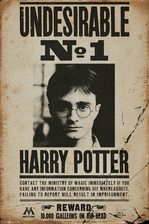 GBeye Harry Potter Undesirable No 1 Poster 61x91,5cm | Yourdecoration.de