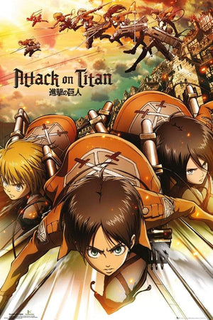 GBeye Attack on Titan Attack Poster 61x91,5cm | Yourdecoration.de