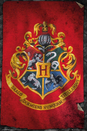 GBeye Harry Potter Hogwarts Flag Poster 61x91,5cm | Yourdecoration.de