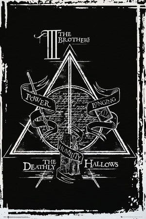 GBeye Harry Potter Deathly Hallows Graphic Poster 61x91,5cm | Yourdecoration.de