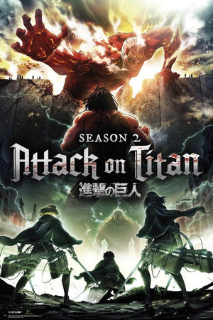GBeye Attack on Titan Season 2 Key Art Poster 61x91,5cm | Yourdecoration.de
