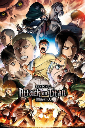 GBeye Attack on Titan Season 2 Collage Key Art Poster 61x91,5cm | Yourdecoration.de