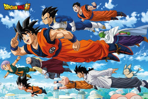 GBeye Dragon Ball Super Flying Poster 91,5x61cm | Yourdecoration.de