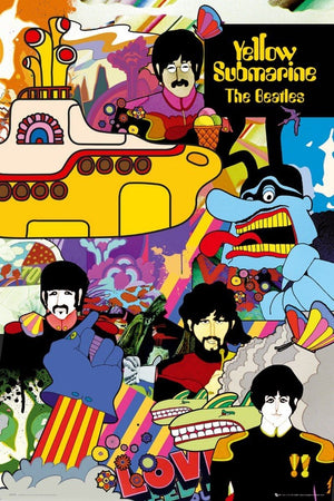 GBeye The Beatles Yellow Submarine Poster 61x91,5cm | Yourdecoration.de