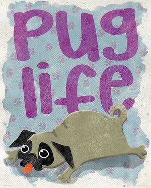 GBeye Pug Life Poster 40x50cm | Yourdecoration.de