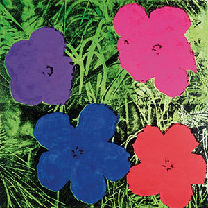 Andy Warhol - Flowers C. 1984 Kunstdruck 60x60cm | Yourdecoration.de