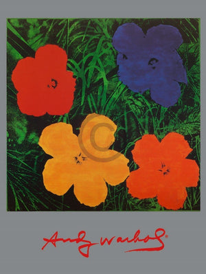Andy Warhol - Flowers Kunstdruck 60x80cm | Yourdecoration.de