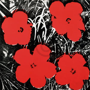 Andy Warhol - Flowers Red 1964 Kunstdruck 91x91cm | Yourdecoration.de