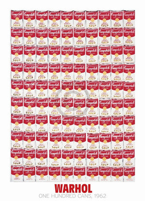 Andy Warhol - One Hundred Cans 1962 Kunstdruck 65x90cm | Yourdecoration.de